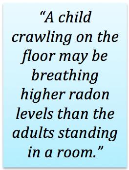 Radon and babies