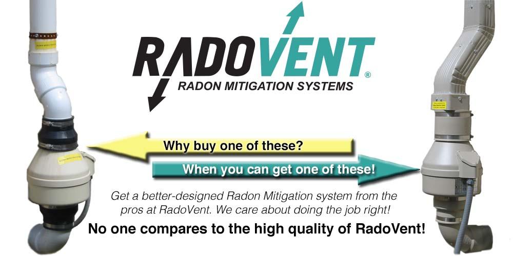 Radon mitigation system comparison