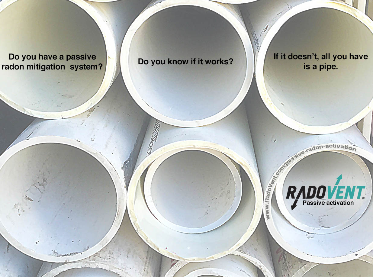 Passive Radon Mitigation System Activation