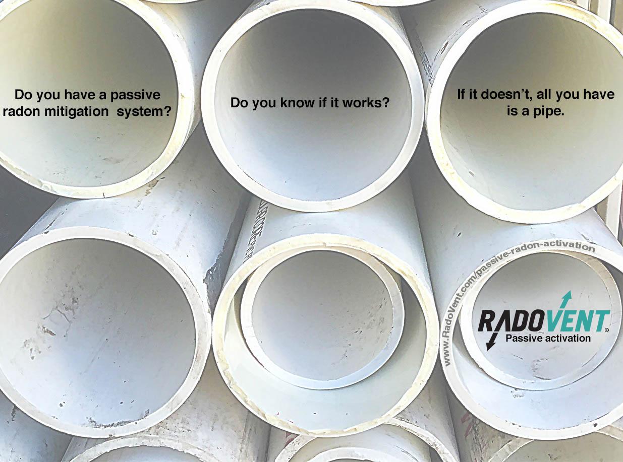Passive Radon Mitigation System Activation