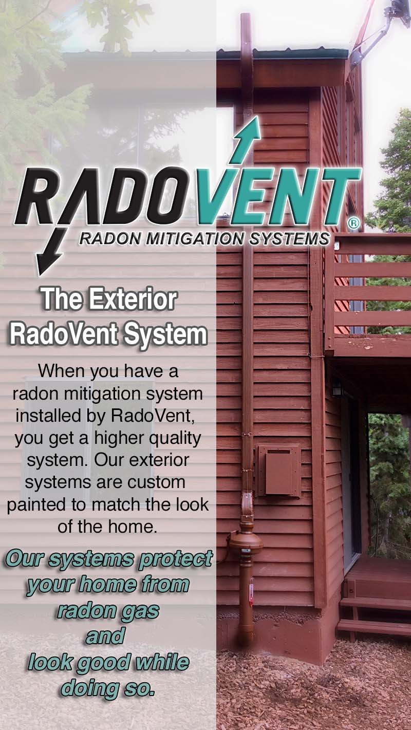 Painted Radon Systems Look Much Nicer On Custom Homes In Colorado.  Radovent_Exterior_radon_colorado